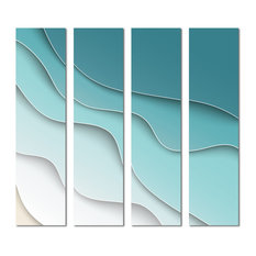 "3""x12"" Upscale Designs Custom Glass Wall Tile, Set of 32"