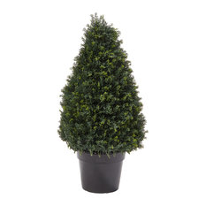 Pure Garden Artificial Cypress Topiary Tower Style Faux Plant
