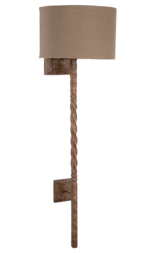old world design lighting. Old World Design Rustic Iron Twisted Wall Sconce With Linen Shade - Sconces Lighting