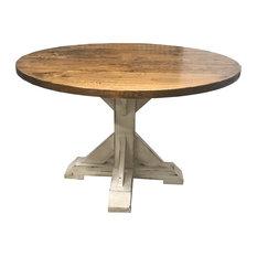 Round Trestle Pedestal Table 72-inch Round