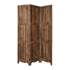 """72"""" X 63"""" Natural 3 panel solid wood Fortress Screen"""