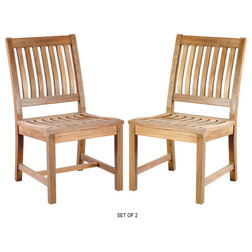 Transitional Outdoor Dining Chairs by warner levitzson teak outdoor furniture