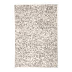 "Jaipur Living Kata Geometric Gray/Ivory Area Rug, 8'10""x12'"