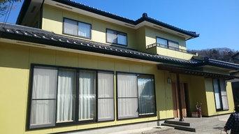 住宅外壁塗装施工事例1