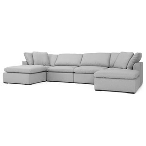 Brilliant Acme Thelma Sectional Sofa With Sleeper And Ottoman Gray Andrewgaddart Wooden Chair Designs For Living Room Andrewgaddartcom
