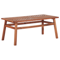Patio Wood Coffee Table, Brown
