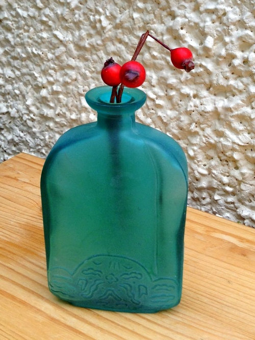 Small Turquoise Smog Glass Vase - Vases