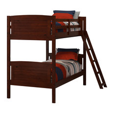 368010KD-C Bunk Bed, Chocolate, Twin Over Twin