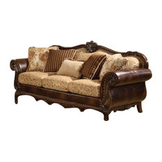1PerfectChoice   1PerfectChoice Remington Bonded Leather And Fabric  Traditional Sofa   Sofas