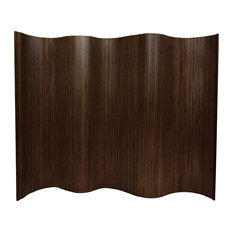 6' Tall Bamboo Wave Screen, Dark Mocha