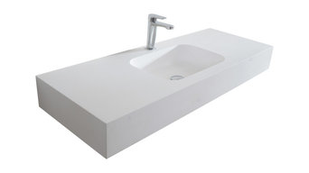 Zero Wall-Mounted Countertop and Sink, 100 cm, Single Sink