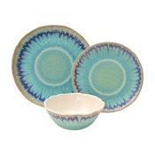 Sea Splash Turquoise 12-Piece Melamine Dinnerware Set