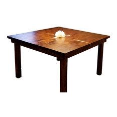 Square Farmhouse Table Barn Wood Finish 46-inch X 46-inch X 30-inch H