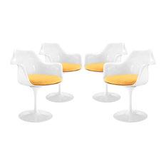 Yellow Lippa Dining Armchair Set Of 4