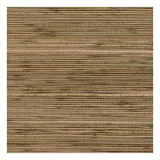Designer Grasscloth, Fine Seagrass Tan, Brown, 488-401, Double-Roll