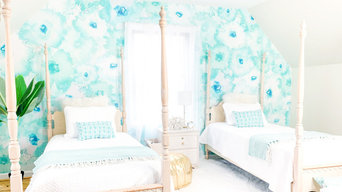 Bedroom Removable Wall Murals, Twin bedroom design, Bed and Breakfast,  Boutique