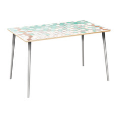 Brixton Flare Dining Table - Mint & Copper Deco