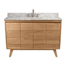 "Avanity Coventry 49"" Vanity Combo, Natural Teak Finish"