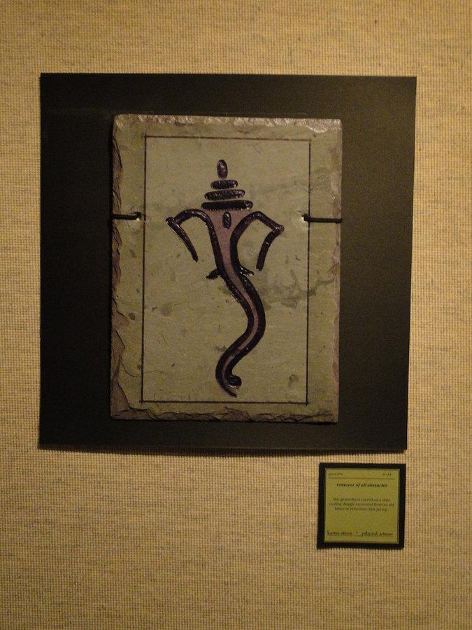 Ganesh- Symbolic Hindu Abstarct Art- Gods & Goddesses Collection