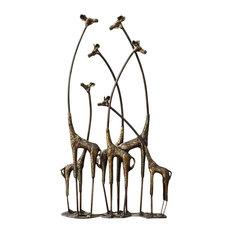Giraffe Sculpture Towering Herd
