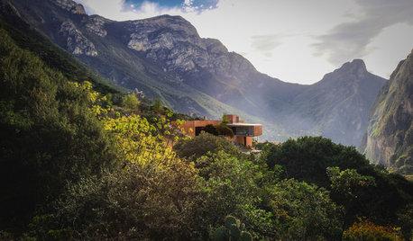 Houzz Мексика: Современный дом, затерянный среди гор