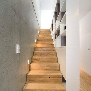Moderne Holztreppe moderne treppen ideen, design & bilder | houzz