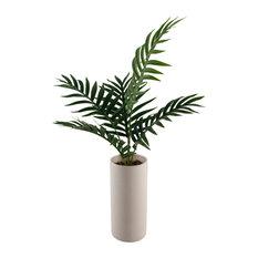 """28"""" Palm in 10.5"""" Textured Ceramic Vase"""