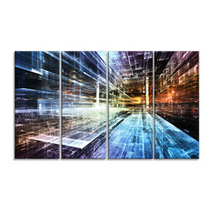 """Future Industry"" Abstract Canvas Artwork"