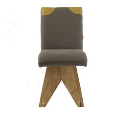 Upholstered Backrest Detail Stool, Grey