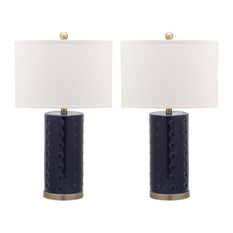 Roxanne Table Lamp in Navy - Set of 2