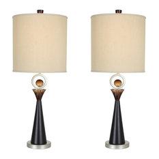 "Van Teal 130772PR Occasion 36"" Table Lamps, Set of 2"