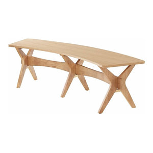 Contemporary Stylish Beech, Solid Oak With Veneer, X Shaped Legs Design