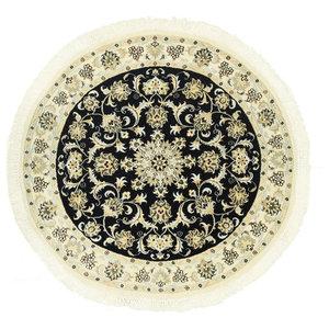 Nain 9La Oriental Rug, Round Hand-Knotted, 116x116 cm