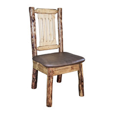 Beautiful Montana Woodworks   Glacier Country Collection Side Chair With Upholstered  Seat, Saddle Pattern   Dining Home Design Ideas