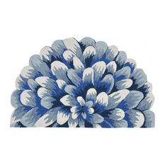 Liora Manne Frontporch Mum Indoor/Outdoor Rug Blue 2'6x4'