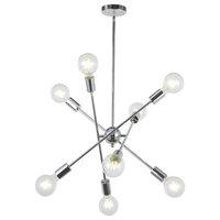 8-Light Sputnik Chandelier Chrome Modern Chandelier Lighting