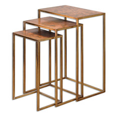 Uttermost Copres Oxidized Nesting Tables Set Of 3 24449