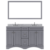 """Talisa 60"""" Double Vanity, Gray, Faucet: Polished Chrome, Basin: Square"""