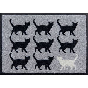 Black and White Easy-Clean Door Mat