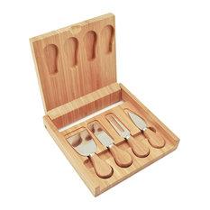 Bamboo Cheese Board and Tool Set