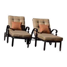 Barcelona Single Chaise Lounge, With Cushion
