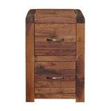 Shiro Walnut Filing Cabinet, 2-Drawer