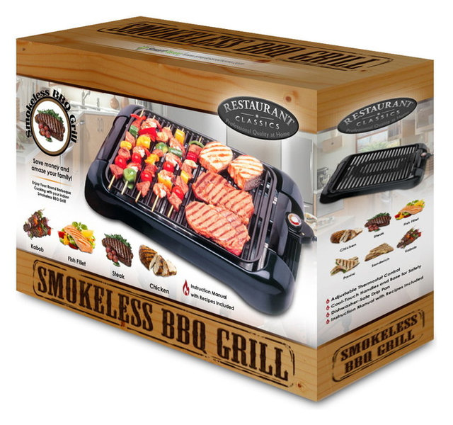 Smart Planet SIG1 Smokeless Indoor Grill Non Stick Surface - Modern ...