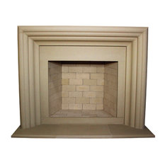 Delano Cast Stone Fireplace Mantel, Buff