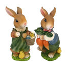 Bunny Hop Mother And Father Statue Set