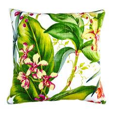 "Artisan Pillows Indoor/Outdoor 18"" Tropical Orchid Throw Pillow, Set of 2, Throw"
