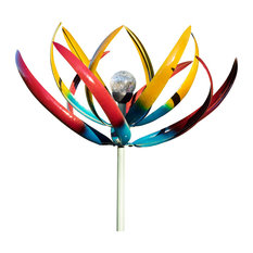 Tresco Solar Light Steel Wind Sculpture