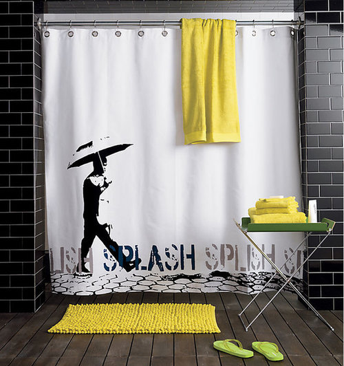 If You Had This Shower Curtain What, What Color Goes With Gray Shower Curtain