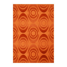 Pluto Hand-Tufted Rug, Terracotta and Gold, 70x140 cm