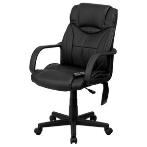 Delacora FF-BT-2690P 25 Inch Wide Leather Executive Swivel Chair with Built-In